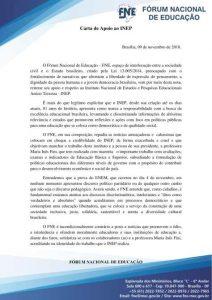 Carta de apoio ao INEP